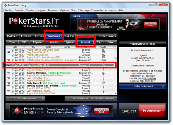 freeroll pokerstars