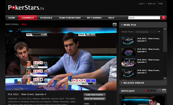 pokerstars tv