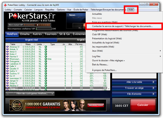 Support Pokerstars